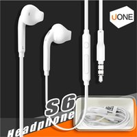 Wholesale apple iphone promotion - Premium Stereo Quality Factory Promotion For Samsung S7 S6 S6 Edge Earphone Earbud Headset Headphones 3.5mm Box Packaging (White) EO-EG920LW