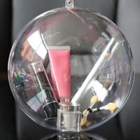 ingrosso palle rosa per la decorazione-Lovely Clear Candy boxes Design romantico Decorazioni natalizie Sfera Trasparente Can Open Plastic Christmas Clear Bauble Ornament