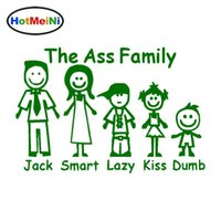 Wholesale funny family car stickers for sale - Group buy Car Styling Ass Family Funny Unique Vinyl Decal Bumper Car Window Decorative Stickers