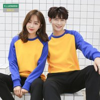 Wholesale korean slim hoodie online – oversize Korean Lover Crew Neck Collar Raglan Sleeve Hoodies Custom Printed Logo Sweatshirt Good Quality Cotton Tops