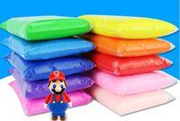 Wholesale Super Light Clay - HOT SALE 100 gram Super Light Weight Clay Soft Eco-friendly Plasticine Magic clay training children 24 Colors