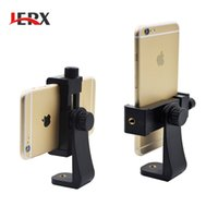 Wholesale clipper holder - JERX Tripod Mount Cell Phone Clipper Vertical Bracket Smartphone Clip Holder 360 Adapter for iPhone 6 7 plus Meizu XiaoMi HuaWei