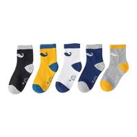 gülümseyen çoraplar toptan satış-5 Çift / grup çocuk çorap Sonbahar kış yeni ürün yaratıcı küçük sakal gülen yüz çocuk çorap gelgit pamuk bebek 3-12 yıl