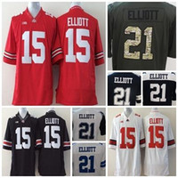 Wholesale Mens Cheap Shorts - Mens Ohio State Buckeyes Ezekiel Elliott Jerseys 15 21 Elliott Stitched Cheap NCAA College Womens Kids Football Jerseys