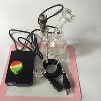 ingrosso vaporizzatore-Di alta qualità Wax Vapor portatile dab Rig Dab Vaporizzatore enail bong kit Regolatore di temperatura per olio concentrato di cera