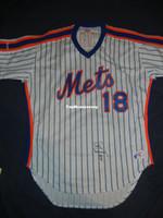 miller sign 2018 - Cheap Retro Rawlings #18 DARRYL STRAWBERRY NEW YORK NY Jersey 46 Signed Autograph COA 1986 Mens Stitched Baseball jerseys
