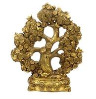 ingrosso ornamento albero denaro-Fabbrica all'ingrosso soldi Shuzhao ottone bronzo albero ornamenti di denaro