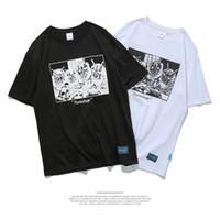 résumé t shirts achat en gros de-T-shirt D'été Court Marque Design Figure Abstraite Impression Rue Jeunes Casual Manches Courtes Mens Coton T-shirt M-2XL Taille