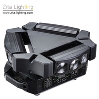 Zita Lighting 9 Eyes Spider light LED Luci a testa mobile Triangolo rotante 9X12W RGBW Scanner Beam Stage DMX Disco DJ Effetto natalizio