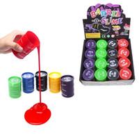 Wholesale multicolor oil paintings - Funny Kids Paint Oil Slime Toy Barrel O Slime Prank Trick Joke Gag Oil Drum Paint Bucket Gag Slime Play Joke Toys z049