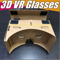 Wholesale DHL D Glasses VR Glasses DIY Google Cardboard Mobile Phone Virtual Reality Unofficial Cardboard VR Toolkit D Glasses CCA1785 B XY