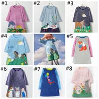95479ae99ba Filles Robes de Bande Dessinée Impression Princesse Automne Hiver Manches  Longues Jupe Mode Enfants Vêtements Boutique Enfants Style Européen YYA1184