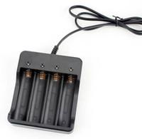 baterías de iones de litio gratis al por mayor-Alta calidad negro 3.7 v 4 ranuras inteligente multi 18650 cargador de batería de iones de litio envío gratis