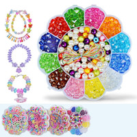Wholesale blossom toys - Children Intelligence Beaded Toys Manual DIY Plum Blossom Bracelet Necklace Learning Education Games Developmental Parent Child Game 8 5zs W