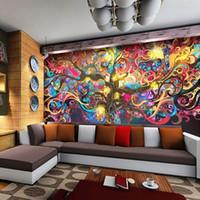ingrosso albero denaro arte-Carta da parati personalizzata Parete pittura Stile europeo 3D Stereoscopico Carta da parati Bar KTV Cafe Abstract Art Money Tree Murale Decor carta