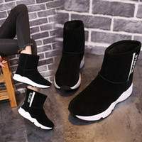 Wholesale womens fashion warm winter boots for sale - Group buy Womens Boots Winter Snow Ankle Fur Female Shoes Warm Ladies Fashion Causal