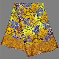 stoffcharme verkauf großhandel-Charming African echte batik embroidry wachs spitze heißer verkauf ankara wachs stoff mit schnur spitze RRL40 (6 yards / lot)