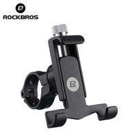 soporte para teléfono plegable al por mayor-ROCKBROS Soporte para teléfono plegable para bicicletas Equipo de equitación a prueba de golpes Soporte para teléfono móvil bisiklet aksesuar MTB Soporte de manillar de bicicleta