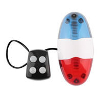фонарь для велосипедов оптовых-ABS Plastics Bike siren 6 LED 4 Sounds Bike  Front Light Warning Siren Cycling Electric Horn Bell for Below 24mm Diameter