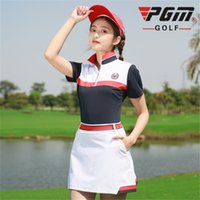 Wholesale lady sports wear clothing online - Golf Women Summer Clothing Set Female Apparel Quick Dry Sports Wear Skirts Set Ladies Sport Golf Tennis Clothes AA60482