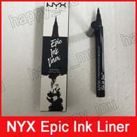 lapices de tinta al por mayor-NYX Epic Ink Liner nyx Black Eyeliner Pencil Headed Maquillaje Liquid Color Black Eye Liner Cosméticos a prueba de agua de larga duración 3001298