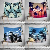 Wholesale summer beds for sale - Summer coconut wall hanging tapestry design multifunction beach towel shawl printing picnic mat tablecloth bed sheet party home decoration