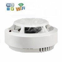 Wholesale wireless smoke detector cameras - New WiFi Wireless HD 1080P Smoke Detector Mini Camera Real Smoke Alarm Function Remote Control Video Recorder Home Security Mini DV P2P Cam