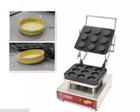 máquina de cono de waffle al por mayor-Comercial 9 hoyos tartlet shell maker tarta de huevo máquina tarta de huevo shell máquina waffle cono maker waffle bowl maker