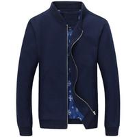 Wholesale outdoor decorating - Spring Autumn Man Jacket Pocket Decorated Casual Jackets Long Sleeve Outdoors Fashion Men Coat Plus Size M-4XL