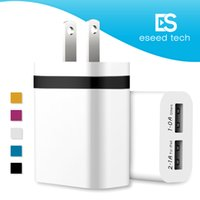 Wholesale powered usb ports - NOKOKO Wall Charger Universal Dual USB Ports Power Portable Adapter with 2.1A 10W Plug For iPhone 7 6S Plus iPad Samsung Galaxy Note 8