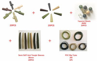 Wholesale tube baits resale online - 20 Safety Lead Clips Tail Rubbers Tapered Beads in mm Anti Tangle Sleeves PVC Rig Tube for Carp Fishing Rig Sets