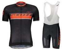 rc set al por mayor-2018 Scott RC Ciclismo Jerseys Bib Gel Set de manga corta MTB Mountain Bike Ropa Road Bicycle Wear Transpirable Maillot Culotte 9D Gel Pad