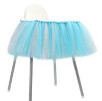 masa örtüleri sandalye toptan satış-Sandalye etek masa örtüsü tül tutu Doğum Günü Düğün Parti Dekorasyon bebek duş hediye zanaat DIY favor şeker renk