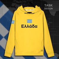 Wholesale greek s - Greece Greek GRC GR mens hoodie pullovers hoodies men sweatshirt new streetwear clothing Sportswear tracksuit nation flag new