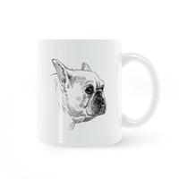 red coffee mug ceramic UK - French Bulldog Hand Painted Mug Coffee Milk Ceramic Creative DIY Gifts Home Decor Mugs 11oz C159