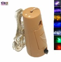 Wholesale 2M Cork Shaped Bottle Stopper Lamp Glass Wine Silver Copper Wire String Lighting Christmas Party Wedding Valentines Decoration