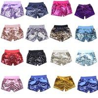 kinder paillettenhose großhandel-2018 kinder shorts für mädchen pailletten bogen shorts kleinkind pailletten shorts hosen 15 farben C1853