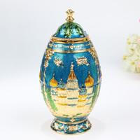 Wholesale russian art resale online - New Automatic Toothpick Holder Russian Palace Castle Carved Toothpick Dispenser Box Organizer Metal Art Craft Kremlin Decoration