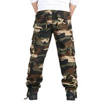 herren plus größe overalls großhandel-Tactical Cargohose Sweatpants Special Forces SWAT Kleidung Mens Armee Combat Hosen Camouflage Overalls Lose Hosen Plus Größe