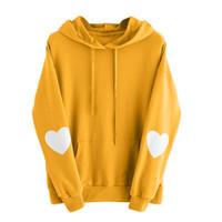 6ff6aa8b Autumn Womens Long Sleeve Heart Hoodie Sweatshirt Jumper Hooded Pullover Tops  Blouse Moleton feminino inverno Sweatshot female