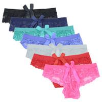 senhoras calcinha de renda venda por atacado-1 PCS Mulheres Calcinhas Sexy Underwear Intimates Rendas Meninas Low-Rise Briefs Ladies Lingeries Feminino Estiramento Respirável Cuecas