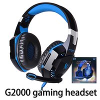 Wholesale games gamers for sale - Group buy Kotion EACH G2000 Computer Stereo Gaming Headphones Best Casque Deep Bass Game Earphone Headset With Mic LED Light For PC Gamer With Package