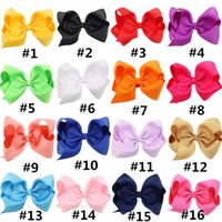 Wholesale Bamboo Hair Sticks - Baby Large Grosgrain Ribbon Bow Hairpin Clips Girls Large Bowknot Barrette Kids Hair Boutique Bows Children Hair Accessories LC694