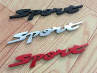 vw çıkartmalar rozetleri toptan satış-3D Metal Spor Araba Çıkartmaları Dekorasyon Aksesuarları Vw Golf 4 Için Amblemler Rozetleri Çıkartmaları 5 6
