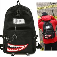 büyük sevimli sırt çantaları toptan satış-Genç Kızlar Için sevimli Sırt Çantası Okul Sırt Çantası Büyük Köpekbalığı Ağız Desen Sırt Çantaları Sırt Çantası Rahat Kızlar Seyahat Okul Çantası KKA5699