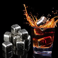 Wholesale ice beer - Hot Sale Different Shapes Stainless Steel Wine Whiskey Stones 304 Ice cube beer stick beer chilling gift Reusable Stainless Steel Wholesale