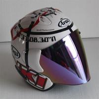 meia capacetes xxl moto venda por atacado-Top hot ARAI 3/4 capacete da motocicleta capacete metade do rosto aberto casque motocross TAMANHO: S M L XL XXL, Capacete