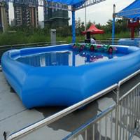 şişirilebilir kürek toptan satış-(Özel Mağaza) Büyük açık şişme yüzme havuzu heyecan verici şişme çocuk havuzu çocuk ve yetişkinlerin yüzme havuzu boyutu