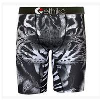 calça boxer branco venda por atacado-Hot Moda Preto / branco Tigre Ethika 7 estilos Mens Underwear Sports Calças Boxer EUA SizeS, M, L, XL