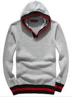 jersey de cuello v al por mayor-Venta caliente de los hombres de ocio suéteres de lujo bordado suéter de alta calidad suéteres de manga larga jersey suéter de color sólido camisa